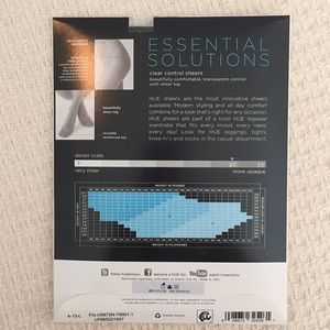 HUE Nylons Pantyhose Essential Solutions Clear Control Sheers 5972N NEW Pkg